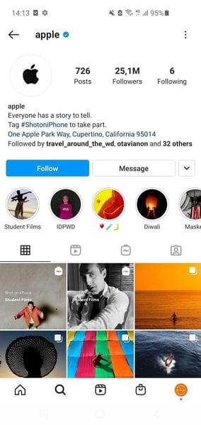 Biografia-de-Instagram-Apple
