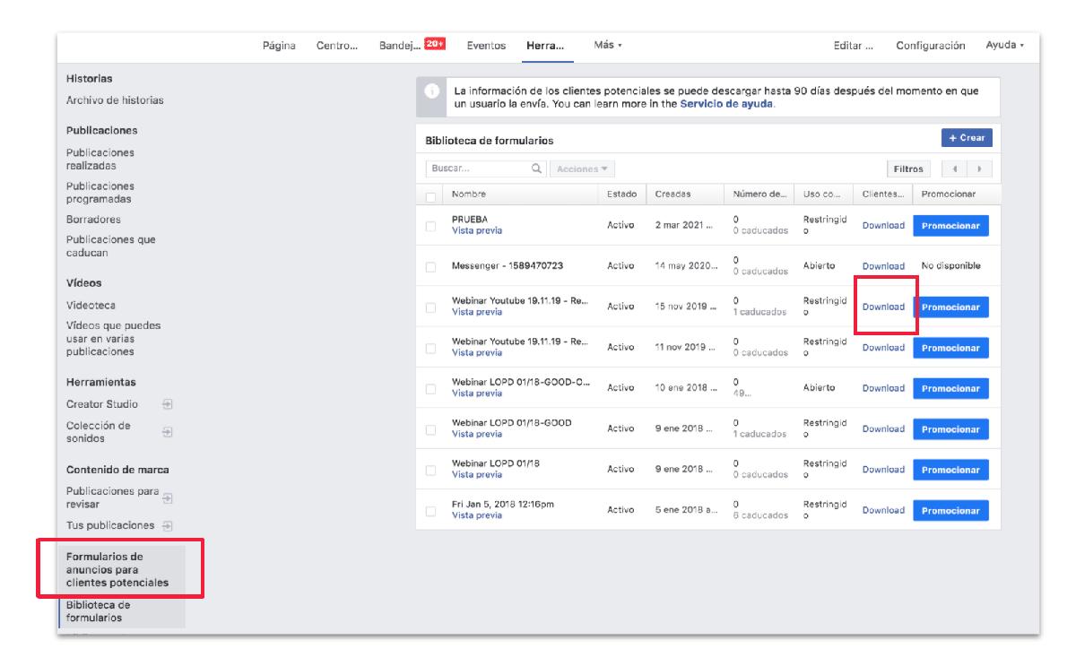 Cómo crear leads en Facebook paso a paso