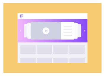 Marketing Twitch - Homepage headliner