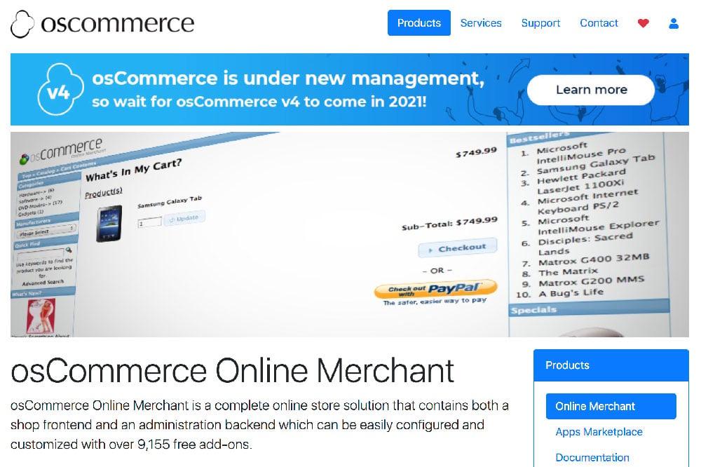 Plataforma ecommerce las mejores de venta digital OsCommerce