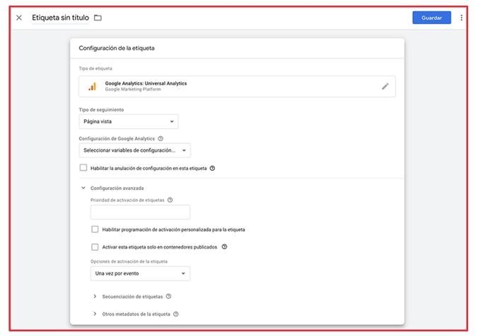Que es Google Tag Manager - Configuracion etiquetas 1