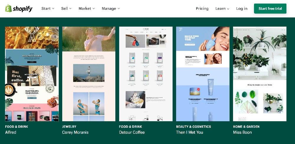 Plataforma ecommerce las mejores de venta digital Shopify