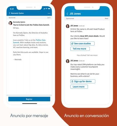 Tipos-de-anuncios-LinkedIn Sponsored Messaging de LinkedIn guia para llegar a tu target via mensaje