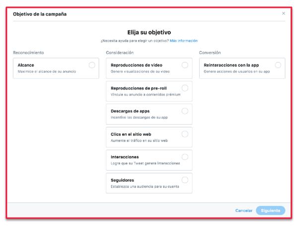 Twitter-objetivos-de-campaña