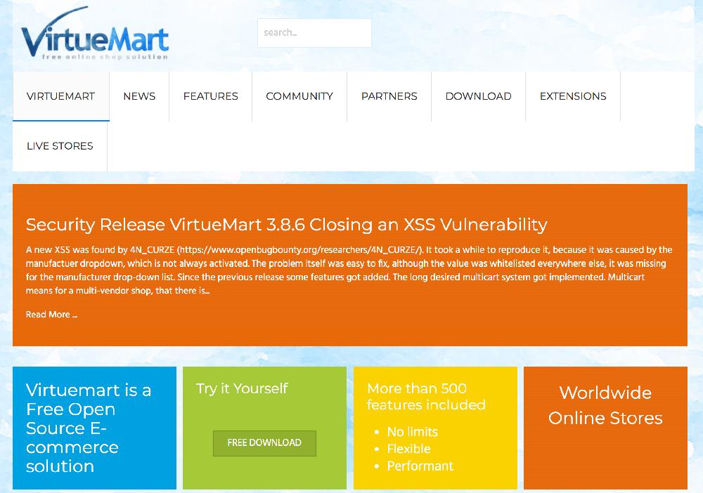 Plataforma ecommerce las mejores de venta digital VirtueMart