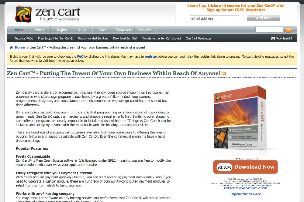 Plataforma ecommerce las mejores de venta digital ZenCart
