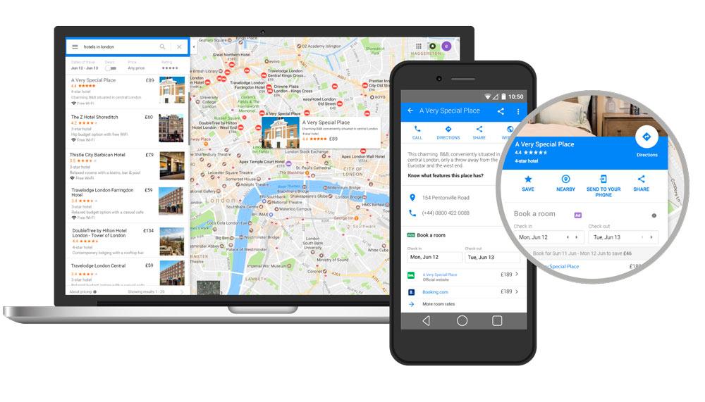 Google Hotel enlaces gratuitos para los hoteles