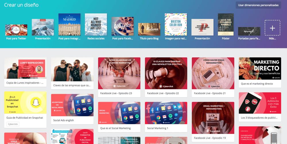 Marketing de contenidos las mejores herramientas para crear infografias - Canva