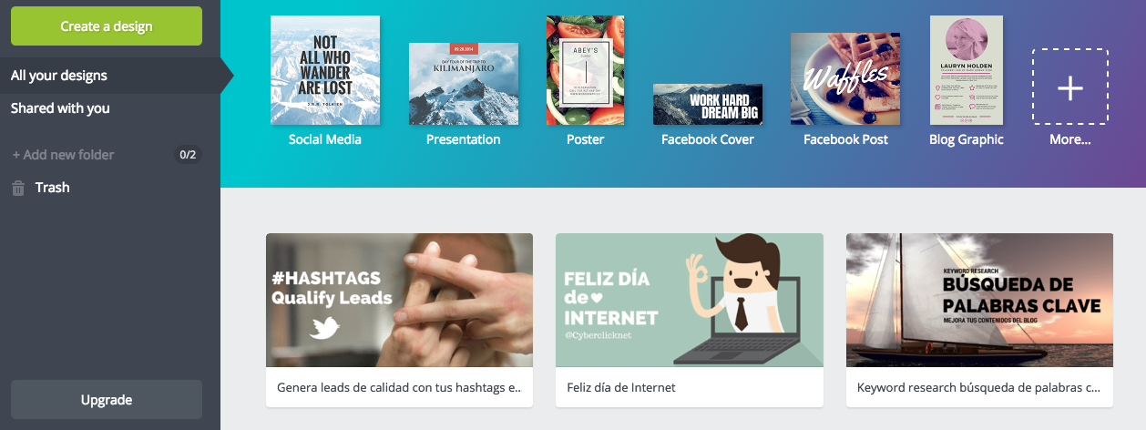 Canva Herramientas marketing Instagram