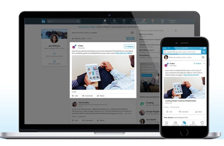 Guia imprescindible para la publicidad en LinkedIn - Sponsored Content