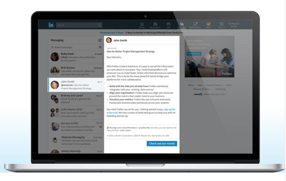 Guia imprescindible para la publicidad en LinkedIn - Sponsored Inmail