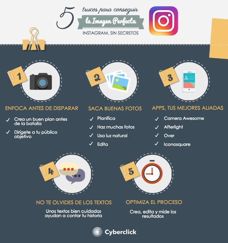 Infografia - Imagenes perfectas para Instagram 5 trucos