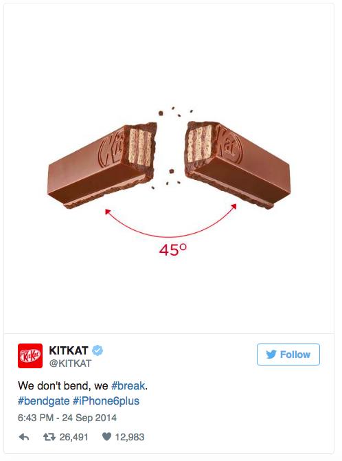 Los 8 mejores tweets de marcas de todos los tiempos Kit kat