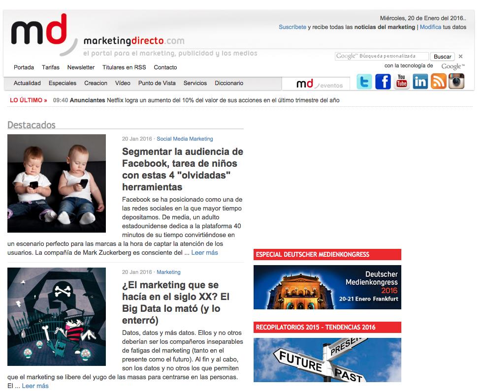 Marketing News Marketing Directo