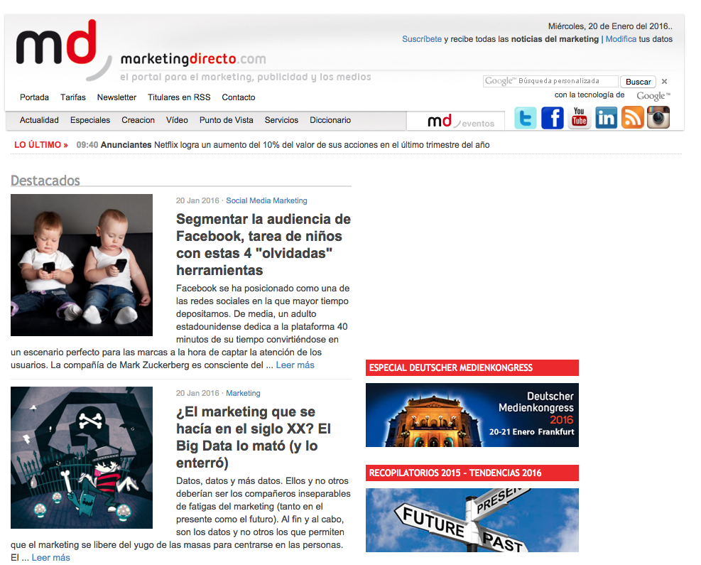 Marketing News Marketing Directo