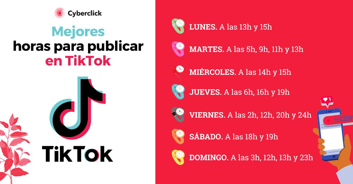 Mejores horas para publicar en TikTok (1)