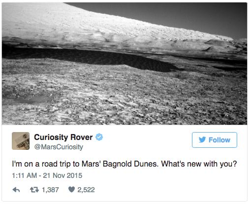 Los 8 mejores tweets de marcas de todos los tiempos - Curiosity Rover