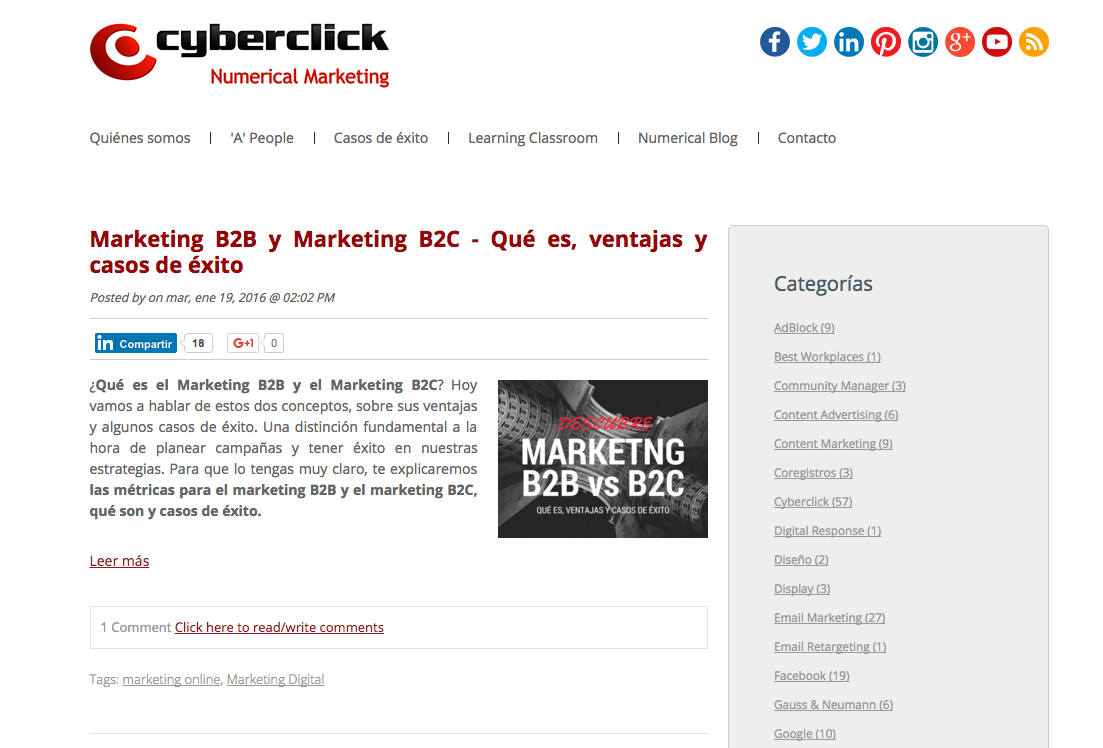 Marketing News Numerical Blog de Cyberclick
