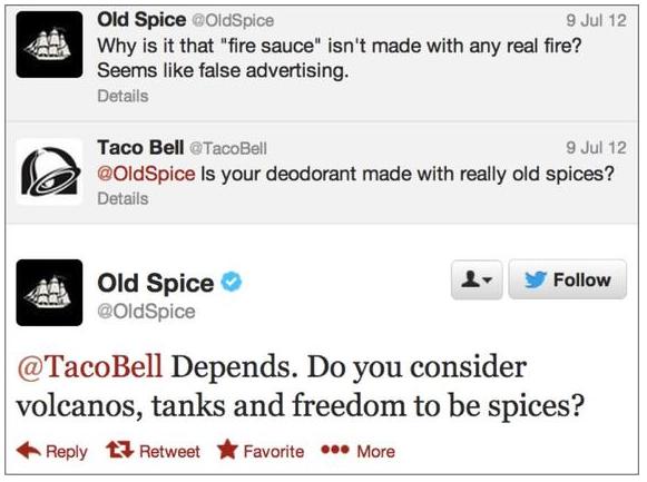 Los 8 mejores tweets de marcas de todos los tiempos Old Spice Taco Bell