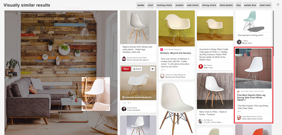Visual Search - Pinterest 2