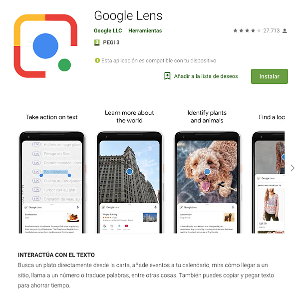 Visual search - Google lens