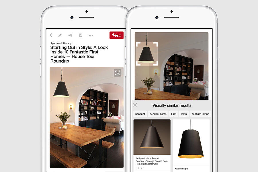 Visual search - Pinterest