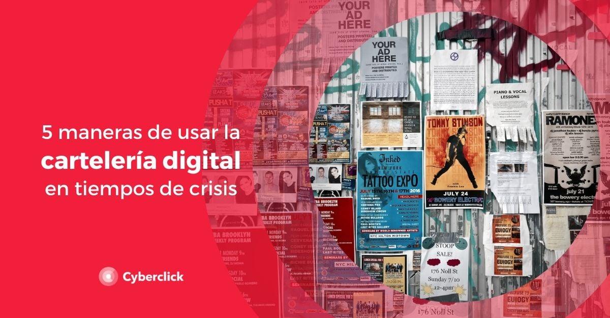 5 maneras de usar la carteleria digital en Espana en tiempos de crisis