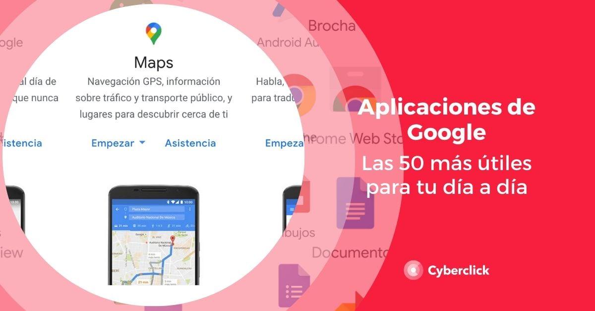 50 aplicaciones de Google a dia de hoy 2020