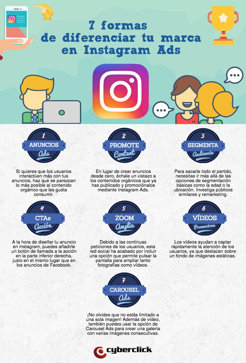 7 formas de diferenciarte del resto de anunciantes en Instagram Ads