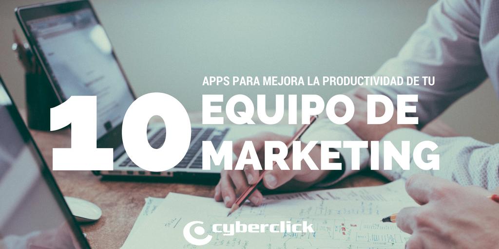 App que facilitan la productividad de un equipo de marketing