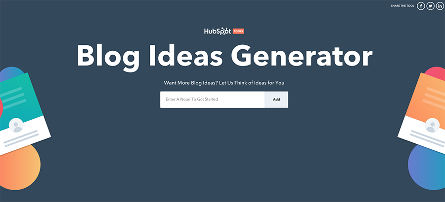Blog Ideas Generator Hubspot