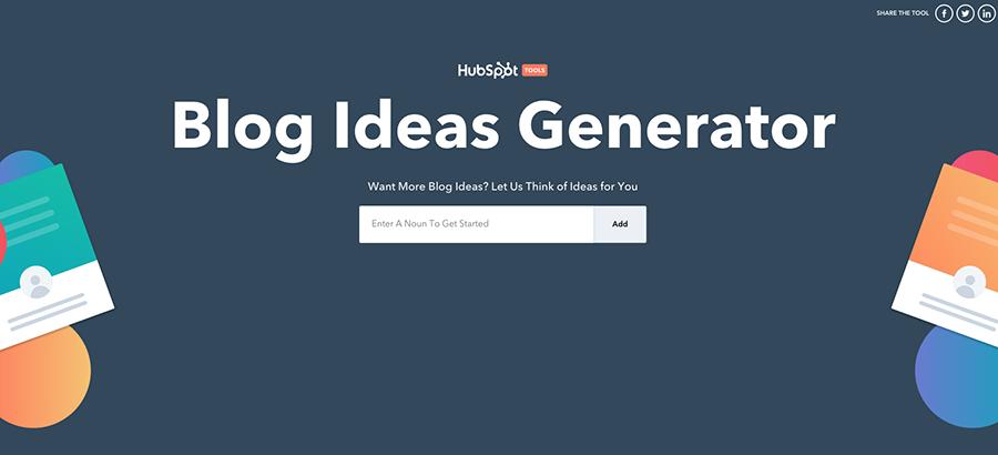 Blog Ideas Generator Hubspot