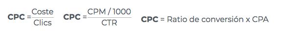 Calcular el CPC