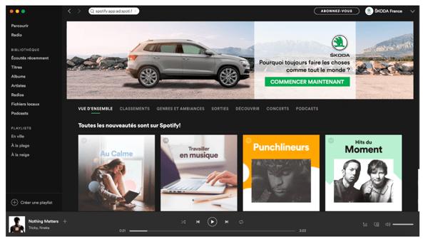 Publicidad en Spotify