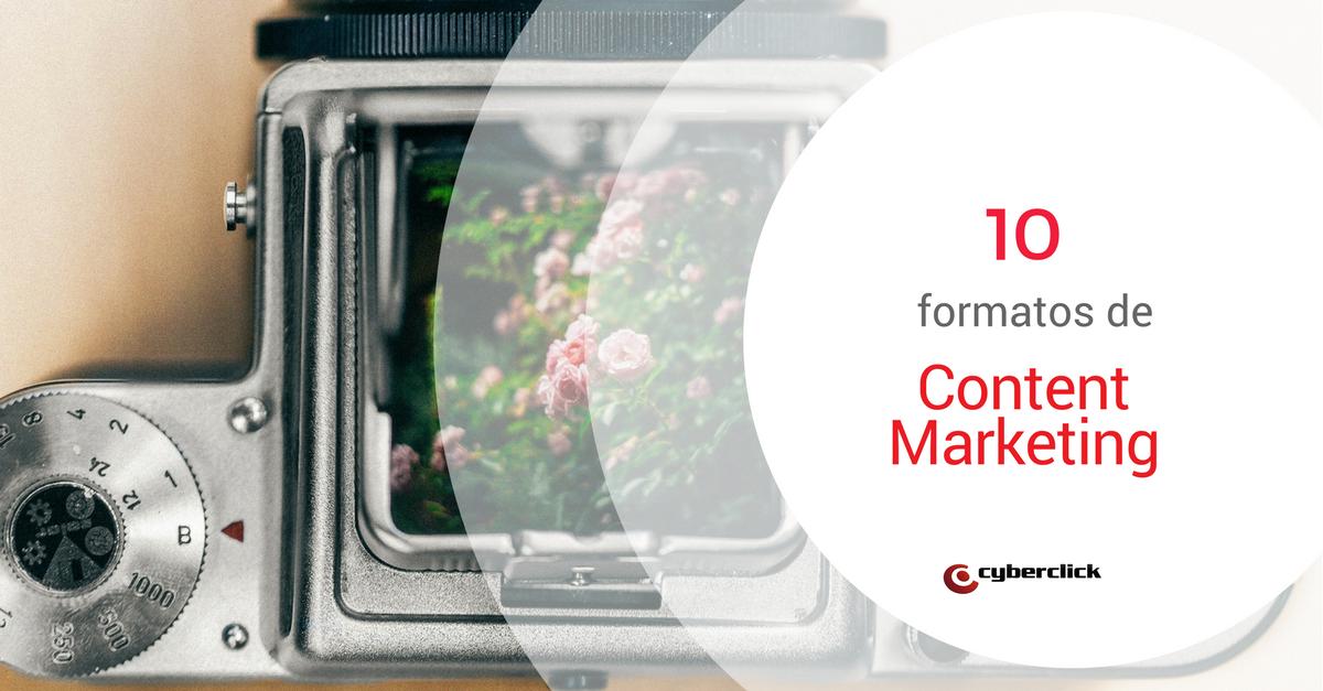 content marketing 10 formatos para aumentar las visitas a la web