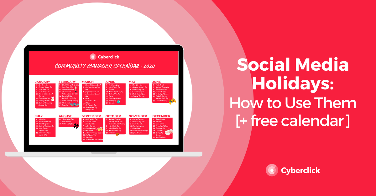 How to Use Social Media Holidays [free calendar]