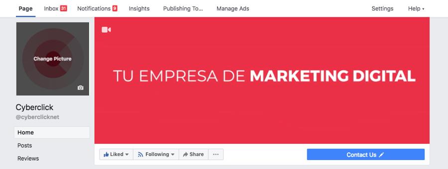 Crear una cuenta en Facebook - Cambiar foto