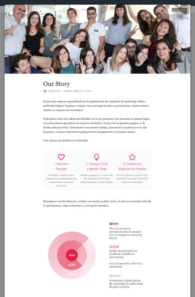 Crear una cuenta en Facebook - Our Story 2