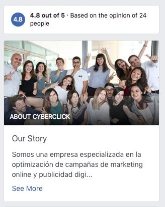 Crear una cuenta en Facebook - Our Story 3
