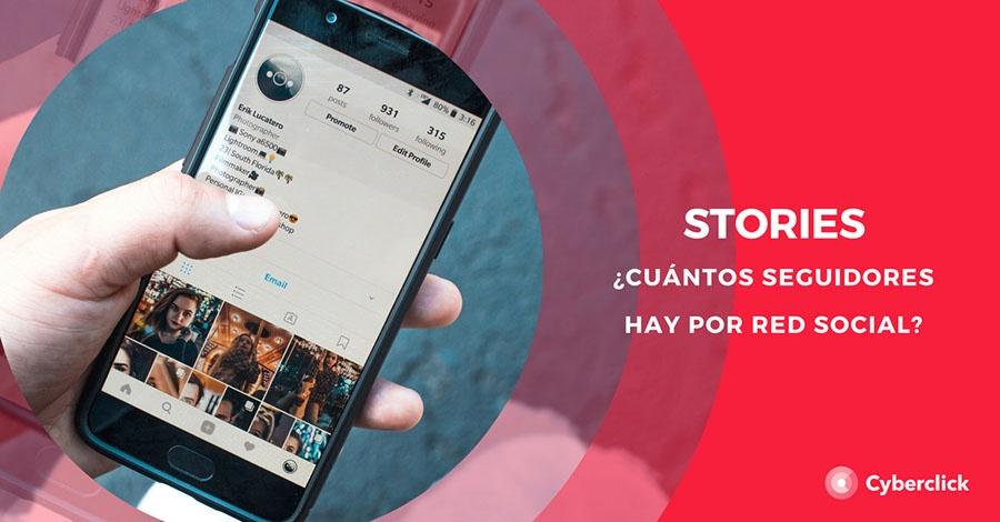 Cuantos usuarios activos hay en Stories por red social