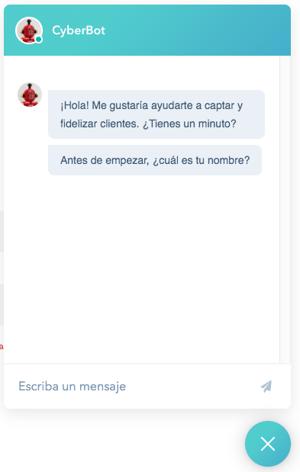 CyberBot de Cyberclick - Chat marketing