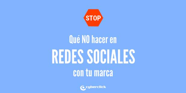 No cometas estos errores en redes sociales con tu marca