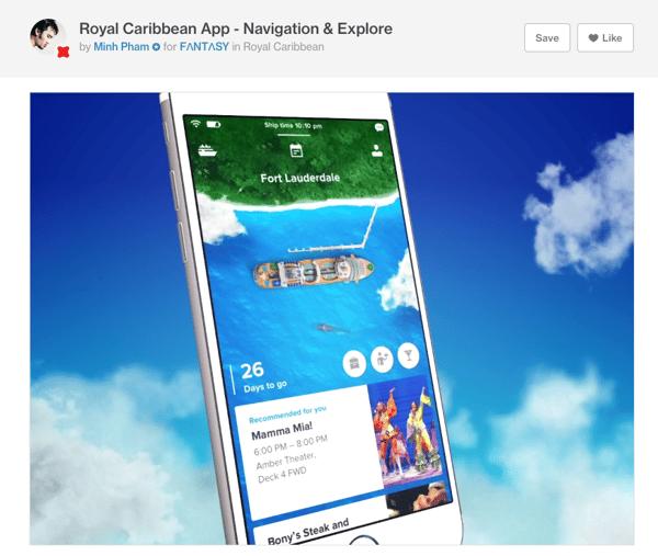 Diseño y UX - app Royal Caribbean