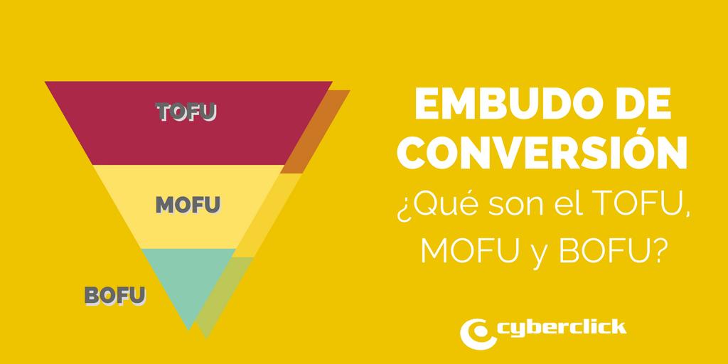 Embudo o funnel de conversion bofu tofu y mofu
