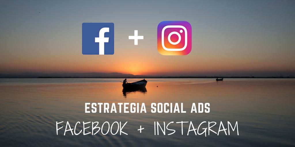 Estrategia de marketing online combinada Facebook Instagram