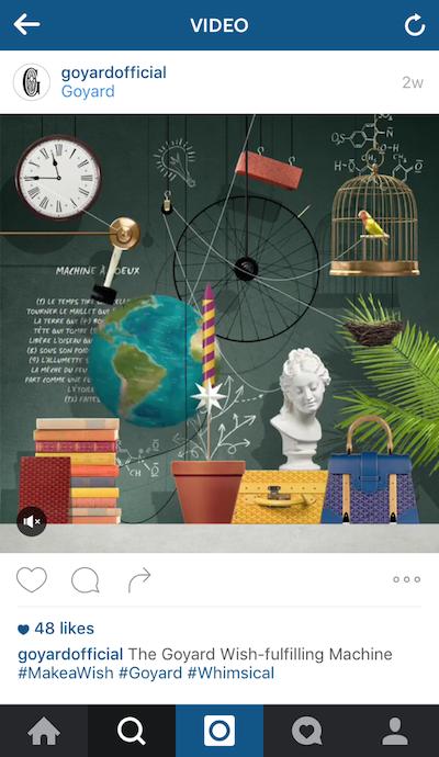 Goyard campaña internacional de publicidad online en redes sociales 2016