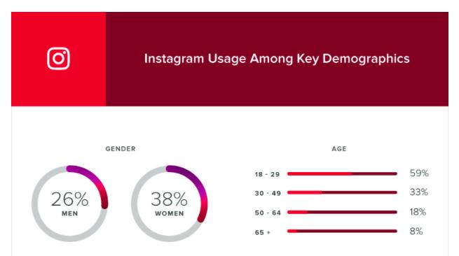 Instagram genero usuarios - Marketing