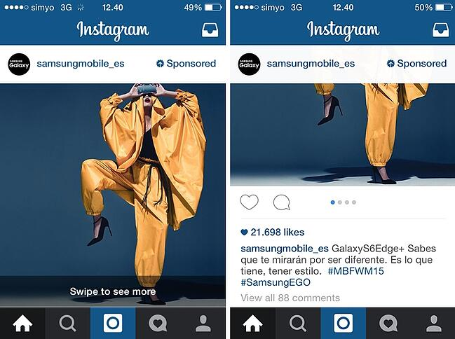 Instagram Ads o publicidad en Instagram ¡3 ejemplos de sus inicios! 2