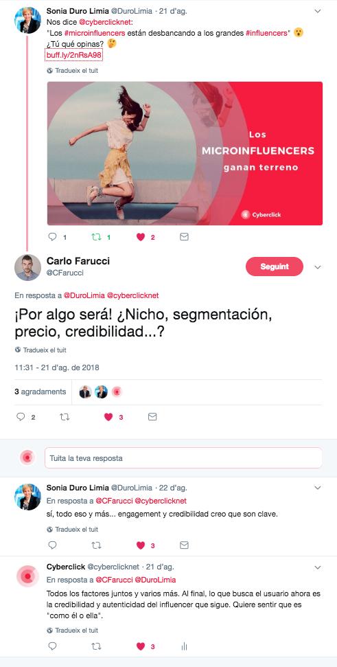 La reputación online - Twitter 2