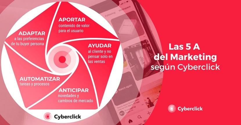 Las 5 A del marketing segun Cyberclick